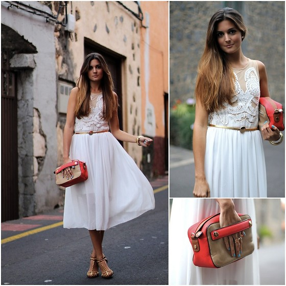 Marianela Yanes - Sheinside Dress, Cloe Complementos Bag, Zara Shoes - Midi White Dress