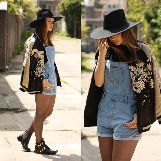 Iris . - Missguided Dungarees, Zara Bomber Jacket, Choies Shoes - DENIM DUNGAREES