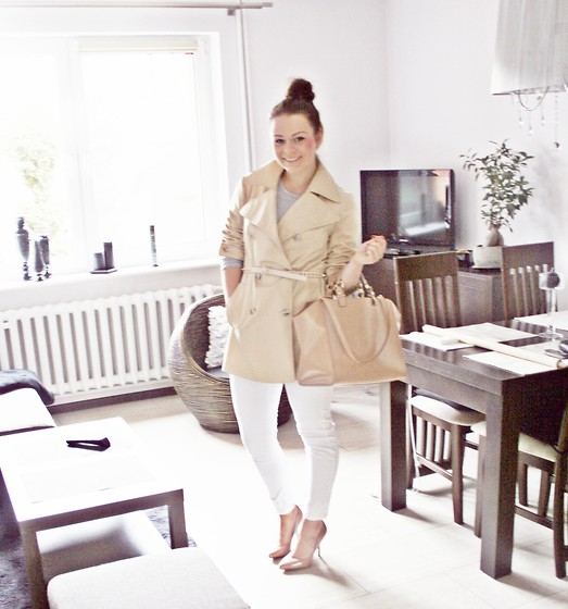 Olivia Dembowska - Zara Bag, H&M Pants, Centro Shoes, Zara Belt, Second Hand Trench - Today trench look