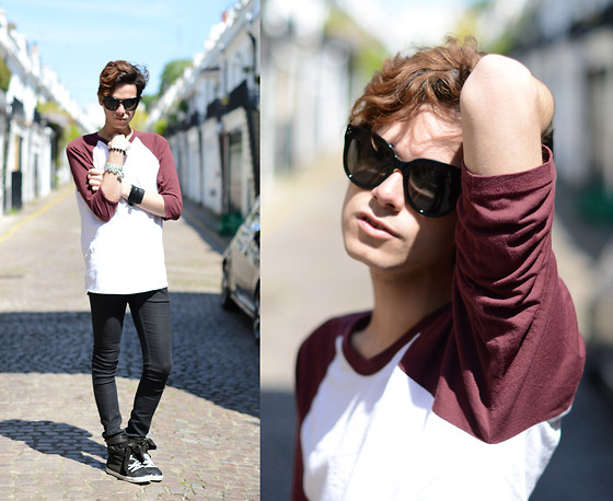 Gianni Sarracino - American Apparel 3/4 Sleeve Tshirt, Céline Celine Audrey Sunglasses - American Apparel Syndrome