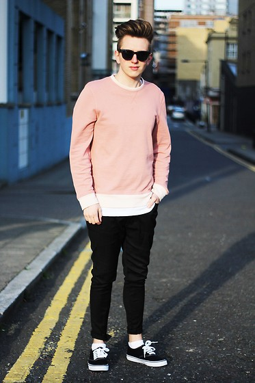 Rolandas Lušinskis - Asos Sunnies, Cos Sweater, Cos Tee, Next Trousers, Vans Sneakers - MIDDAY SUNLIGHT