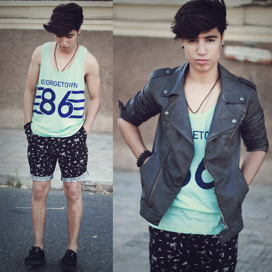 Ayoub Mani - Bershka Jacket, H&M Tops, H&M Short, Shoes Creepers, H&M Braclet - If you never try you'll never know!
