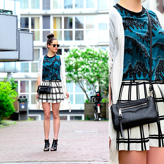 Renée Sturme - Asos Top, Rebecca Minkoff Purse, Olive Skirt, River Island Heels - Pattern crazy