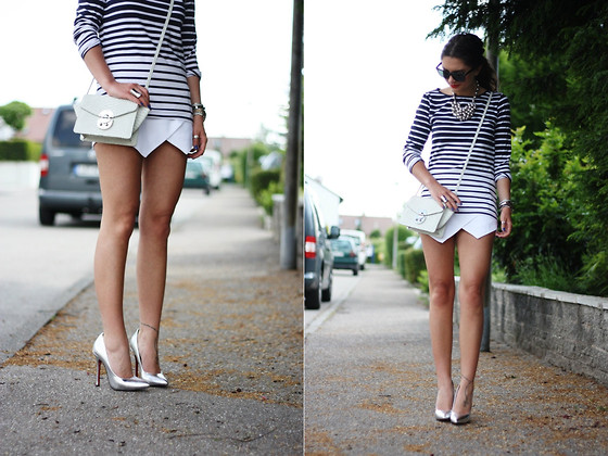 Anni *** - Gaya Bag, Sheinside Shorts, Choies Pumps - Silver details