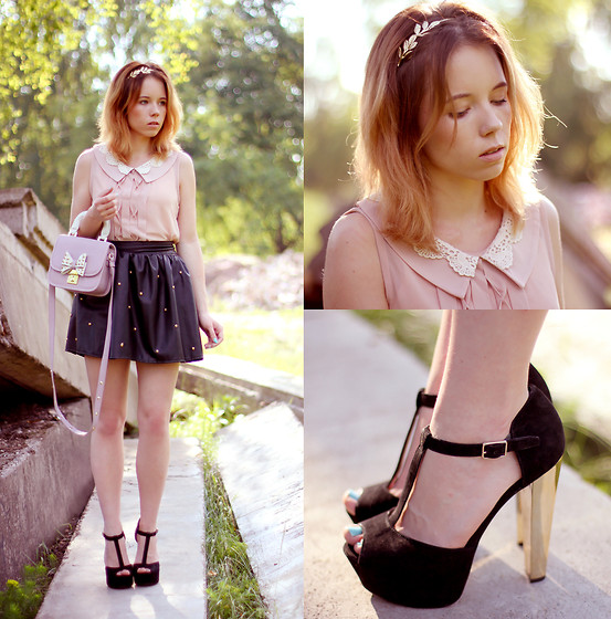 Wioletta Mary Kate - Steve Madden Shoes, Romwe Skirt, Awwdore Blouse, Topshop Bag - Love to the light ( have instagram now ) ♡