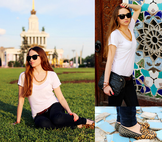 Sasha Ka - Zara Shirt, Abercrombie&Fitch Jeans, Aeropostale Belt, Aldo Bag, Steve Madden Shoes, Diy Necklace - White T-shirt and jeans