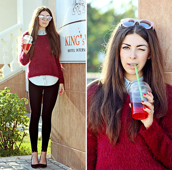 Viktoria Vasilenko - New Look Sweater, Forever 21 Sunglasses - Asaf Avidan feat. The Mojos  – One Day