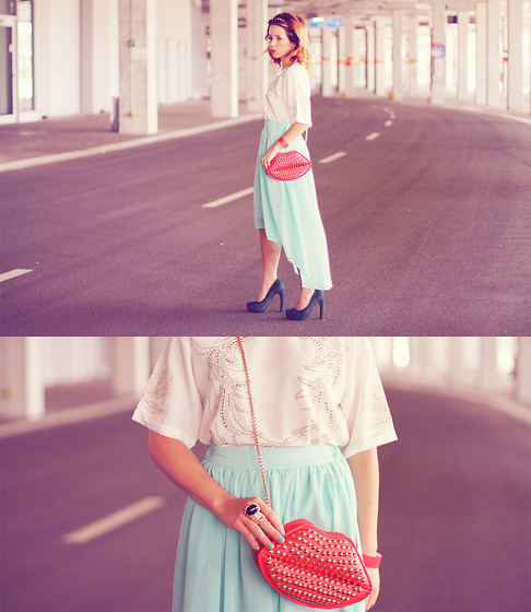 Wioletta Mary Kate - Sheinside Skirt, Sheinside Blouse, Romwe Bag, Studio Tmls Shoes - So fresh, so summer