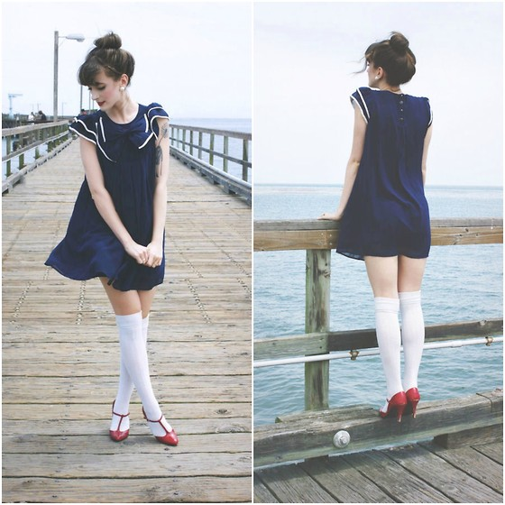 Kiana Mc - Vintage Shoes - Nautical Gloom