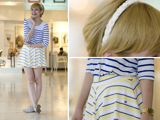 Bea Benedicto - Regatta Striped Shirt, Tommy Hilfiger Striped Skirt - Stripe A Pose