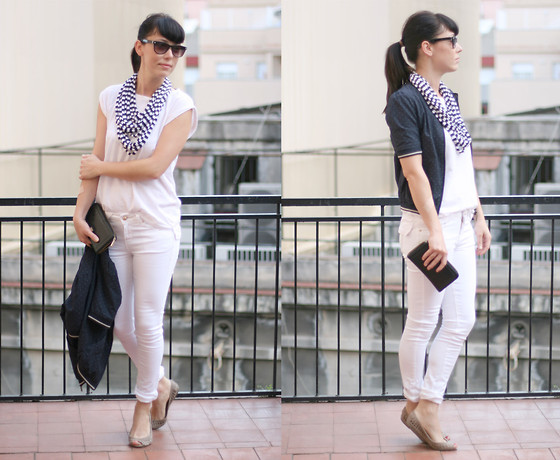 Núria Juangran - Lefties T Shirt, Lefties Pants, Mari Paz Shoes, Pull & Bear Jaquet, Mango Purse, Hand Made Necklace - WHITEWORDS