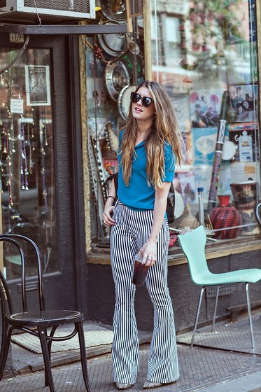 Laura Ellner - Geren Ford Top, Alice And Olivia Pants - WITH THE BAND