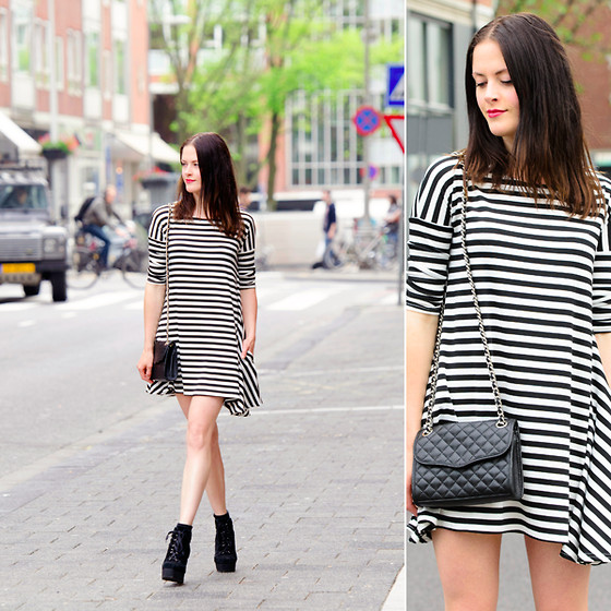 Renée Sturme - Striped Dress, Rebecca Minkoff Quilted Bag - Twenty-sixth
