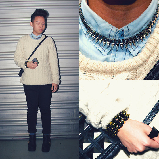 Archie Pham - Aldo Spike Necklace, Louis Vuitton Coin Case - Spikes & Studs