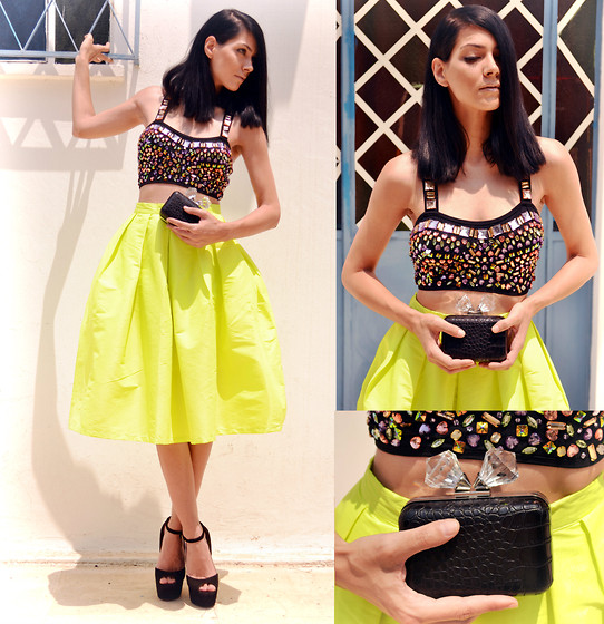 Konstantina Tzagaraki - Topshop Bustier, Choies Skirt, Zara Clutch - Isn't it nice to think that tomorrow is a new day?