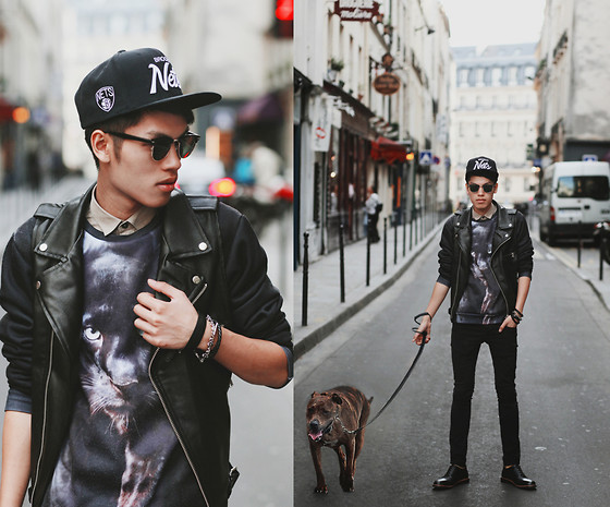 Mike Quyen - Mepcy Leather Vest, Aloha From Deer Sweater - Hello Paris