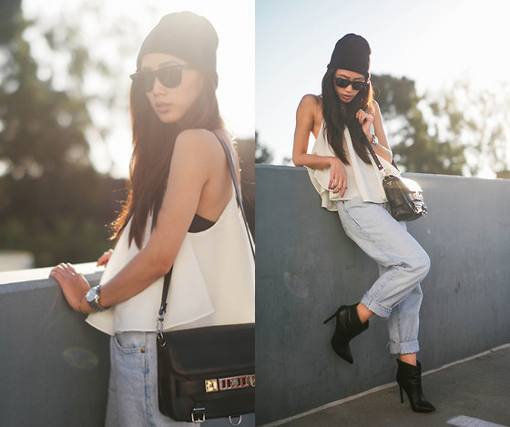 Jenny Ong - Lovers + Friends Tank, Proenza Schouler Ps11 - Edgy summer