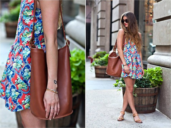 Laura Ellner - Pixie Market Dress, Coach Bag, Pour La Victoire Shoes - BUBBLES