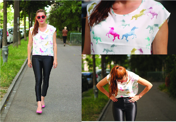 Lea Zeitman - American Apparel, H&M, Sunglasses Fizzen, Tommy Hilfiger - Where are my ponys at ???