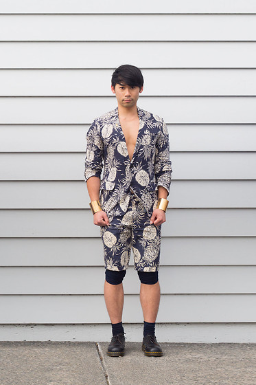 Chin from FOUREYES - Da+Pp Short Suit, Dr. Martens Shoes - Pina Colada