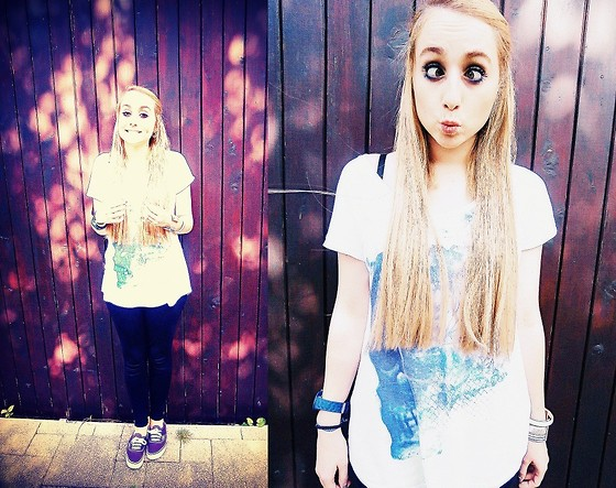 Ophelie Milena - Vans Authentic, Legging From Domyos, Zara Zara's Skull, Ice Watch - Crazy Things