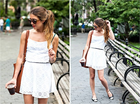 Laura Ellner - Topshop Dress, Chanel Shoes, Coach Bag - BARELY THERE