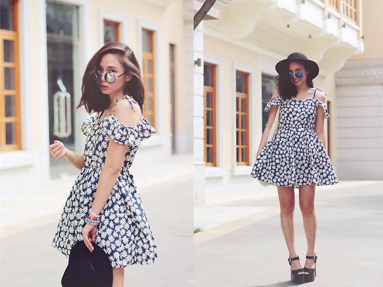 Mee Chan - Topshop Hat, Topshop Shoes - Little sweet daisy dress~