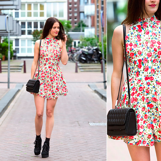 Renée Sturme - Love Floral Dress, Theory Bag, Asos Shoes - In bloom