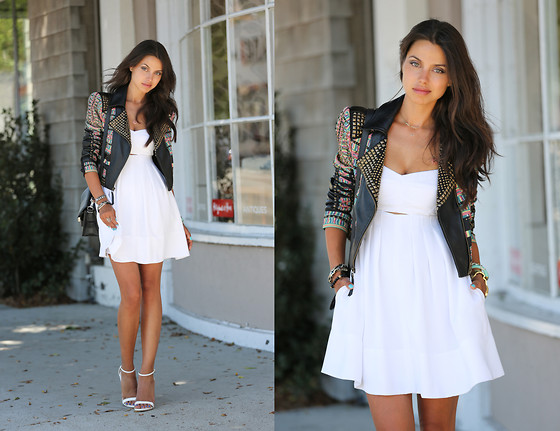 Annabelle Fleur - Bcbg Jacket, Club Monaco Dress, Zara Heels - Seriously Studded