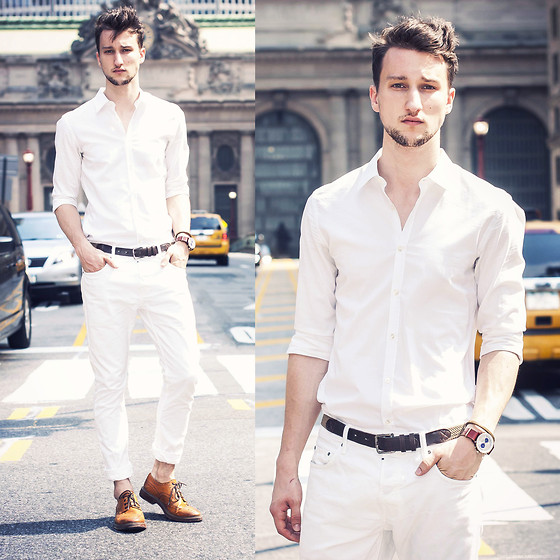Marcel Floruss - Hugo Boss Shirt, All Saints Jeans, H&M Belt, Aldo Wingtips, Bracelet, Nevil Watch - Grand White Central