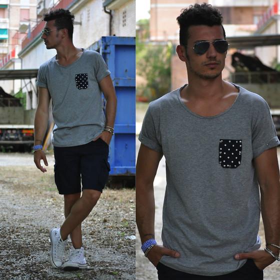 Alessio Convito - Living Clothes Tee, Xcape Bermuda, Converse ...