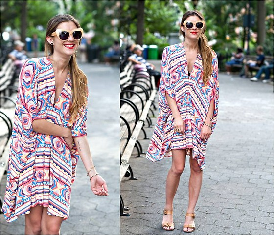 Laura Ellner - House Of Harlow Sunglasses, Rachel Pally Dress, Plv Shoes - STARFISH