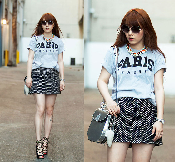 Ivy Xu - La Notte Shirt, Topshop Skirt, Zara Heels, Alexander Wang Bag - Lace it up