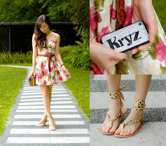 Kryz Uy - Ingga Sandals, Glamour Chic Dress - Garden Salad