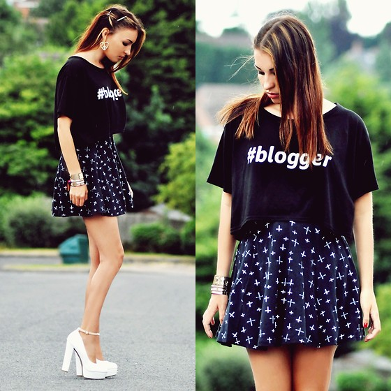 Killy Nicole - New Look Skirt, In Love With Fashion Blogger Tee - Keep The Secrets Empty For Me