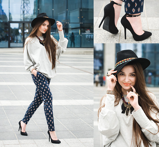 Style on Camera _ - Zara Pants, H&M Hat, Zara Shoes, Zara Necklace, Merrin&Gussy Bracelet, Pudle W Blouse, Pull & Bear Headband - Countdown