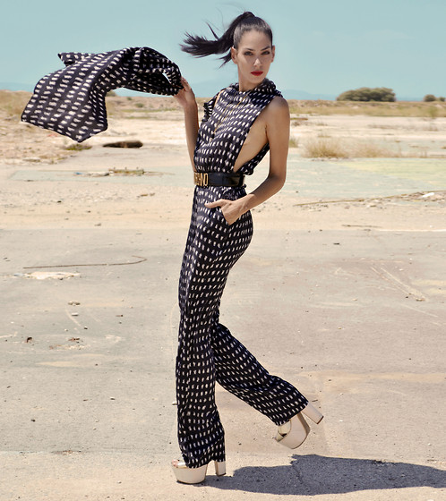 Konstantina Tzagaraki - Jumpsuit, Choies Belt, Romwe Necklace - You wanna fly,give up the things that weighs you down..