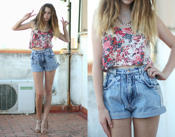 Francesca S - Claires Necklace, Bershka Top, Mango Wedges - Summer memories
