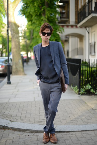Gianni Sarracino - Céline Celine Sunglasses, Zara Document Case, Asos Suit - ASOS suit