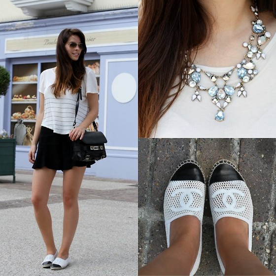 Mary G. - Chanel Espadrilles, Zara Necklace - Summer Basics