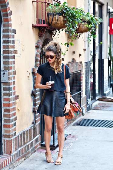 Laura Ellner - Urban Outfitters Top, Veda Skirt, Rebecca Minkoff Bag, Pour La Victoire Shoes - Back to Black
