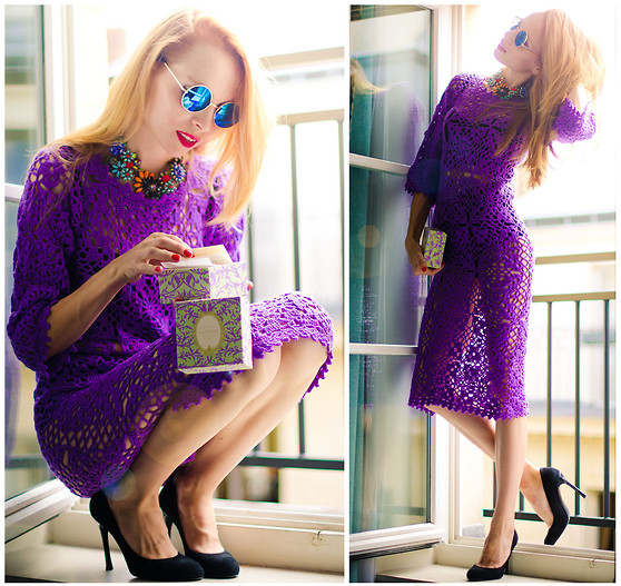 Tini Tani - Будуар Dress, Zara Necklace, Choies Sunglasses - Laduree