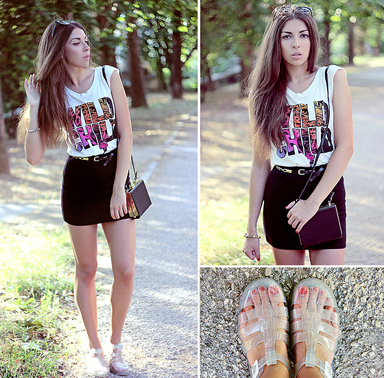 Viktoria Vasilenko - Forever 21 Top, American Apparel Jelly, Forever 21 Clutch - Empire of the Sun – We Are The People