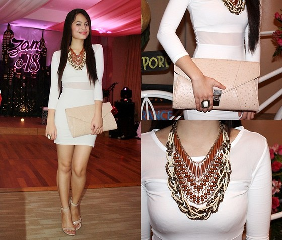 Zaira Chan - Wagw Dress, Payless Heels, Sm Accessories Clutch, Sm Accessories Ring, Sm Accessories Necklace, Island Girl Necklace - Toned