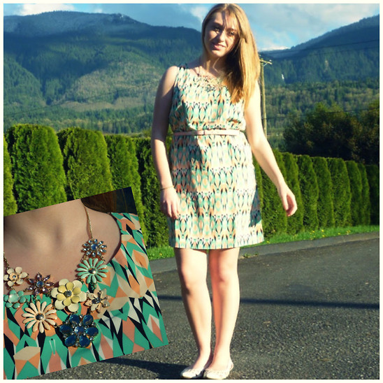 Julieanne Buma - Forever 21 Dress, Forever 21 Floral Necklace - Don't leave just yet summer!