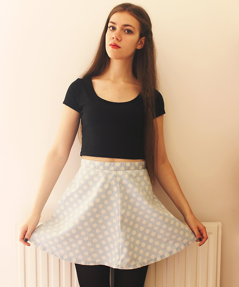 Lois H - New Look Crop Top, Topshop Denim Skirt - Lies ♡