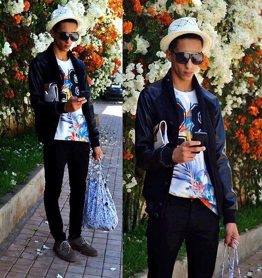Driss Khadim - Givenchy T Shirt, Givenchy West Denim, H&M Skynny, Aldo Shoes, Marc By Jacobs, Iphone5 - Vacation style <3 flowers inspiration