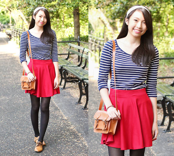 Sophie Ramos - Pink Closet Red Skater Skirt - Central Park