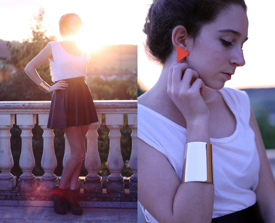 Francesca S - Spark Jewelry Earrings, Bershka Top, Bershka Skirt - Don't teach me geometry