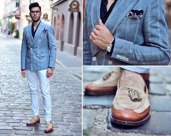 Lukas Maslowski - Zara Jacket, H&M Trousers, Zara Tassel Loafers, Triwa Watch - #32
